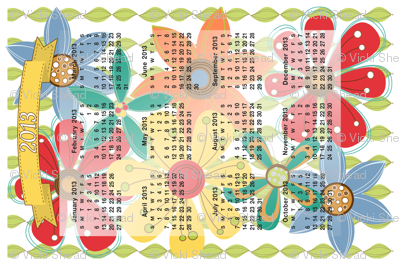 2013 Calendar Inspired Tea Towel