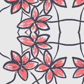 Three flowers-pink