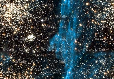 Stars // Blue Galaxy Star Fields