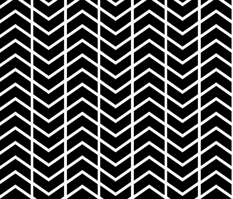 chevron stripe black and white fabric by ninaribena on Spoonflower - custom fabric