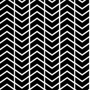chevron stripe black and white