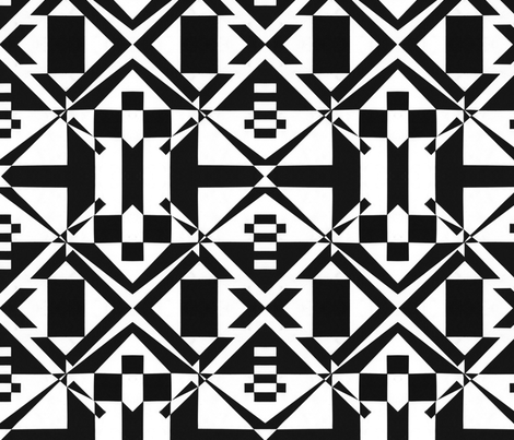 black and white art fabric by teresia on Spoonflower - custom fabric