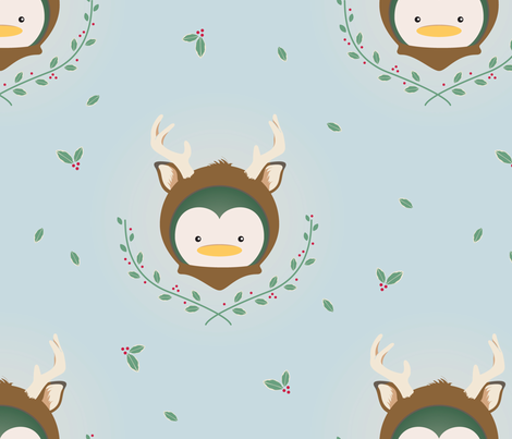 My Deer Penguin fabric by mydeardarling on Spoonflower - custom fabric