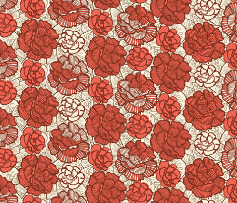 Autumn colours floral fabric by kezia on Spoonflower - custom fabric
