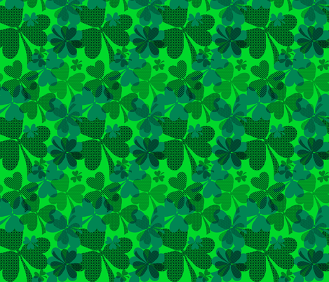 Shamrock fabric by isabella_asratyan on Spoonflower - custom fabric
