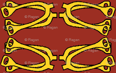Bitty Spurs - red/gold