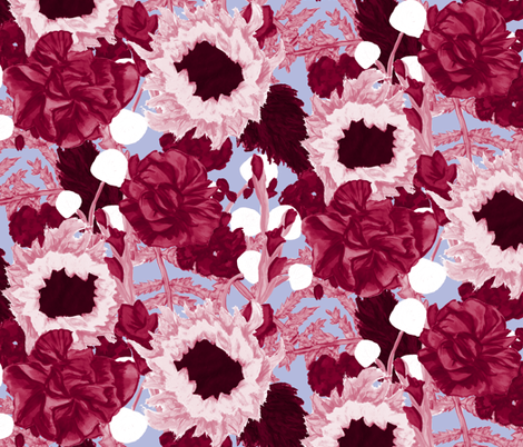 Burgundy Bouquet fabric by horn&ivory on Spoonflower - custom fabric