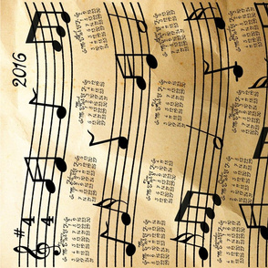 A Year Of Music Tea Towel Calendar 2016