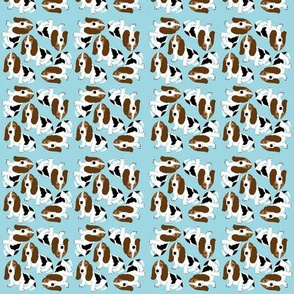 Basset Hound on Light Blue (Micro)