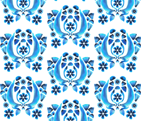 Blue Watercolor fabric by marlene_pixley on Spoonflower - custom fabric