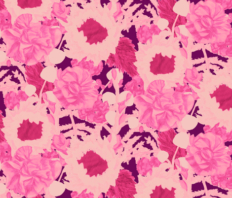 Flamingo Bouquet fabric by horn&ivory on Spoonflower - custom fabric