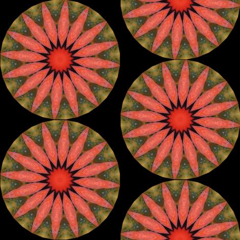 Pumpkin Pie Flowers 1 fabric by dovetail_designs on Spoonflower - custom fabric