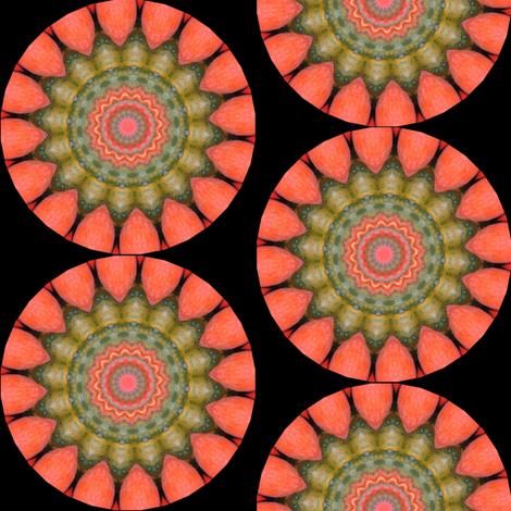 Pumpkin Pie Flowers 6 fabric by dovetail_designs on Spoonflower - custom fabric