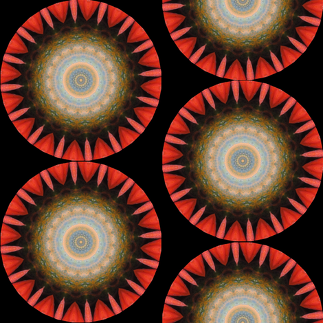 Pumpkin Pie Flowers 8 fabric by dovetail_designs on Spoonflower - custom fabric