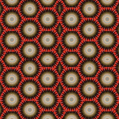 Pumpkin Pie Flowers 9 fabric by dovetail_designs on Spoonflower - custom fabric