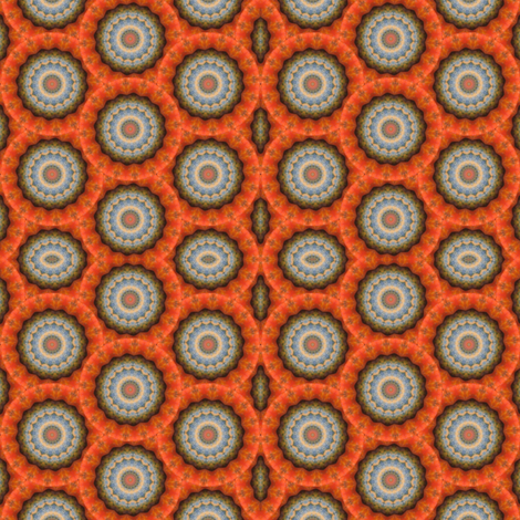 Pumpkin Pie Flowers 11 fabric by dovetail_designs on Spoonflower - custom fabric