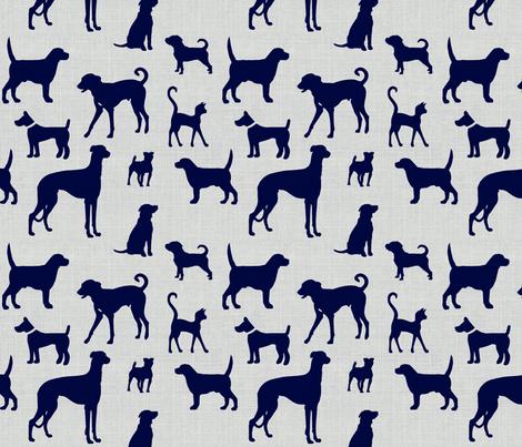 dogsnavytexture60 fabric by ragan on Spoonflower - custom fabric