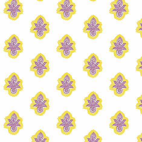 Double Blossom Royal fabric by frocklove on Spoonflower - custom fabric