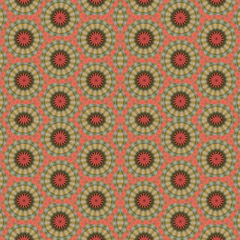 Pumpkin Pie FLowers 15 fabric by dovetail_designs on Spoonflower - custom fabric