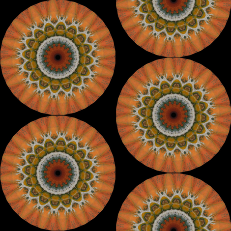 Pumpkin Pie Flowers 16 fabric by dovetail_designs on Spoonflower - custom fabric