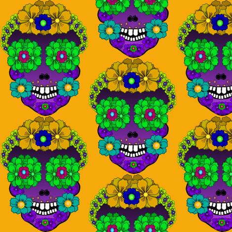 Flower Skull fabric by boneyfied on Spoonflower - custom fabric