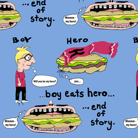 A Hero's Tale fabric by amy_g on Spoonflower - custom fabric
