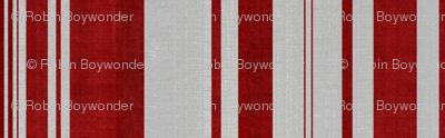 linen uneven stripe red and silver