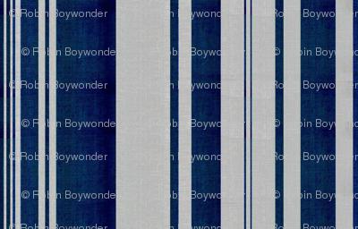 linen uneven stripe silver blue