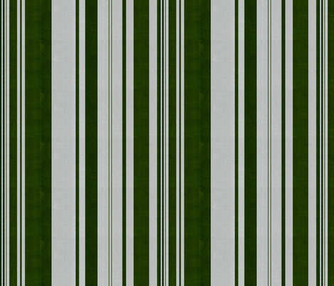 linen uneven stripe green silver fabric by starlings_law on Spoonflower - custom fabric