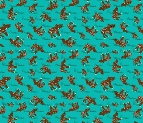 Tapir_Swatch_Blue fabric by dianakreider on Spoonflower - custom fabric