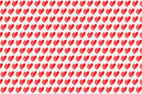 Mums mini heart super red fabric by ninaribena on Spoonflower - custom fabric