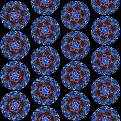 Pumpkin and Fall Flower Mandala 3 fabric by dovetail_designs on Spoonflower - custom fabric