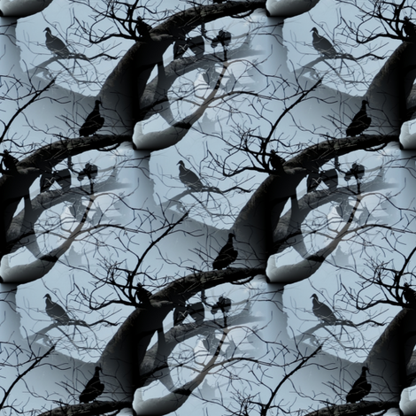 Fashion Vultures ~ Small fabric by peacoquettedesigns on Spoonflower - custom fabric