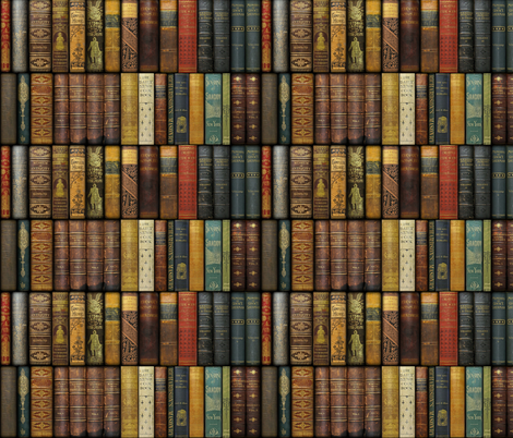 Monsieur Fancypantaloons' Instant Library ~ Small fabric by peacoquettedesigns on Spoonflower - custom fabric