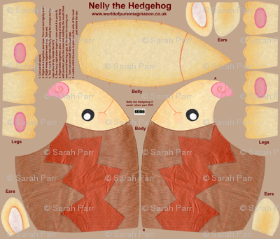 Nelly the Hedgehog Plushie