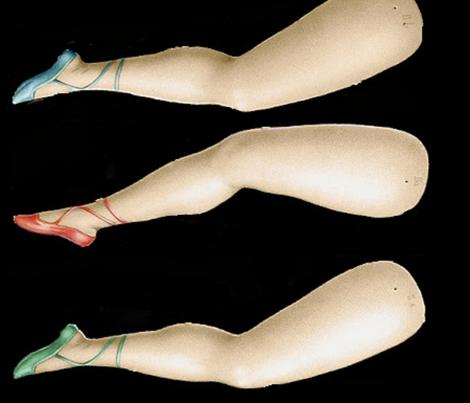 XL dolls legs - black fabric by pijama_princess on Spoonflower - custom fabric