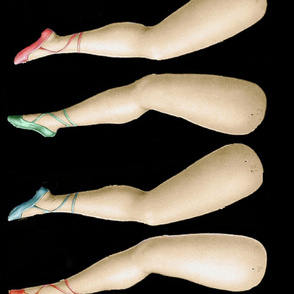 dolls legs - black