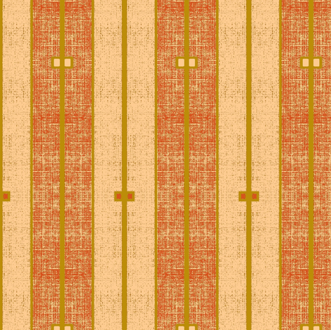 Ode to Deco -  stone washed terra cotta and peachy pink with gold stripe fabric by materialsgirl on Spoonflower - custom fabric