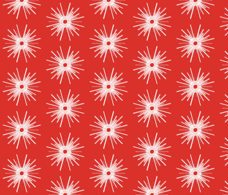 Snowburst   -red fabric by fireflower on Spoonflower - custom fabric