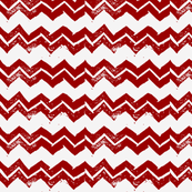 Chevron - Hand-carved stamps - Red/White