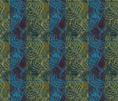 Menorah Plaid in Navy and Olive Gold fabric by wren_leyland on Spoonflower - custom fabric