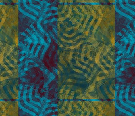 plaid-menorah--nav-tint fabric by wren_leyland on Spoonflower - custom fabric