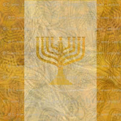 Gold white menorah---tint