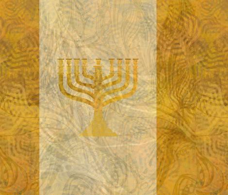 Gold white menorah---tint fabric by wren_leyland on Spoonflower - custom fabric