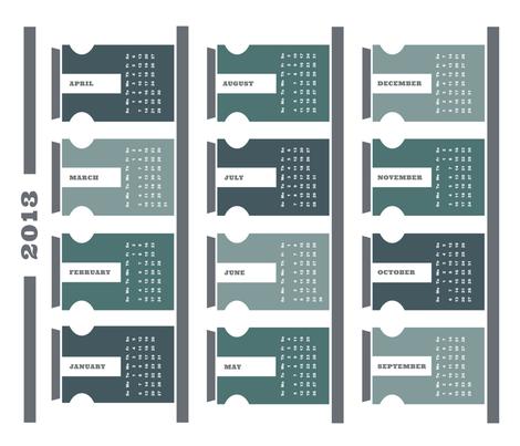 2013 Tea Towel Calendar - Spice Rack fabric by carolina_medberg on Spoonflower - custom fabric