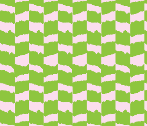 Icebox cookies-  green & pink fabric by fable_design on Spoonflower - custom fabric