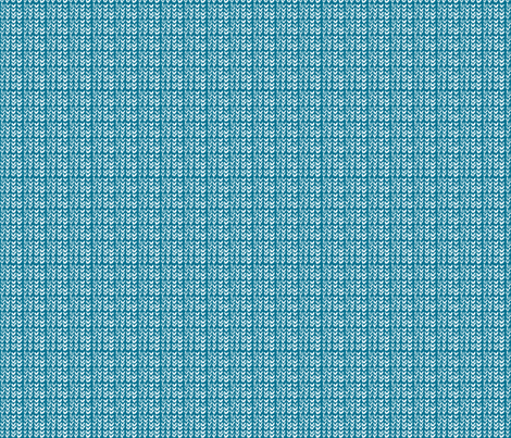 Hand Knit - 14 Teal Reverse fabric by katvanwin on Spoonflower - custom fabric