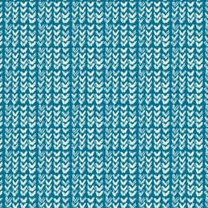 Hand Knit - 14 Teal Reverse