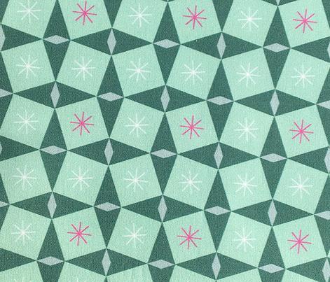 Pretty Packages* (Jadeite)    vintage geometric midcentury modern atomic stars starburst gifts presents diamonds Christmas holiday