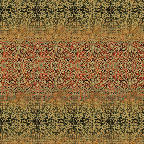 Antique Tapestry in Gold, Green and Red fabric by wren_leyland on Spoonflower - custom fabric